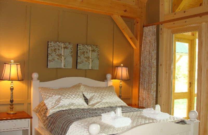 Chalet Bedroom at  Port Cunnington Lodge