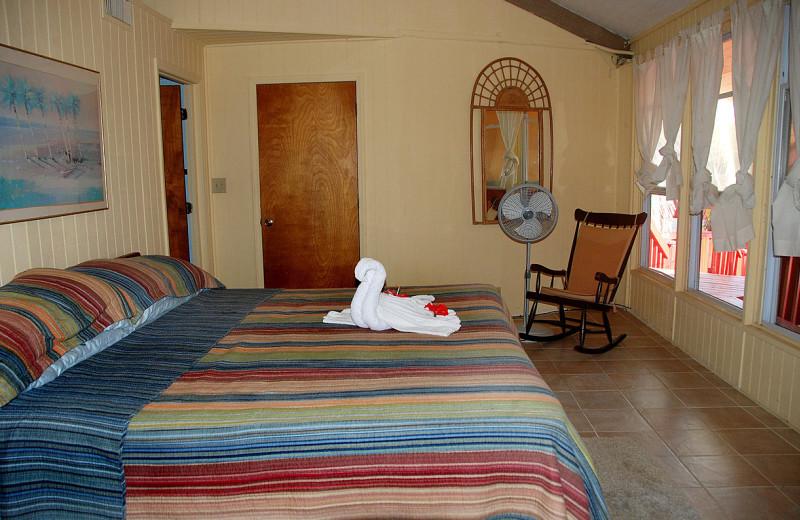 Guest room at Nautical Inn Resort.