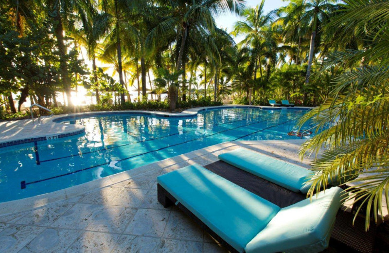 Outdoor pool at Curtain Bluff Resort.