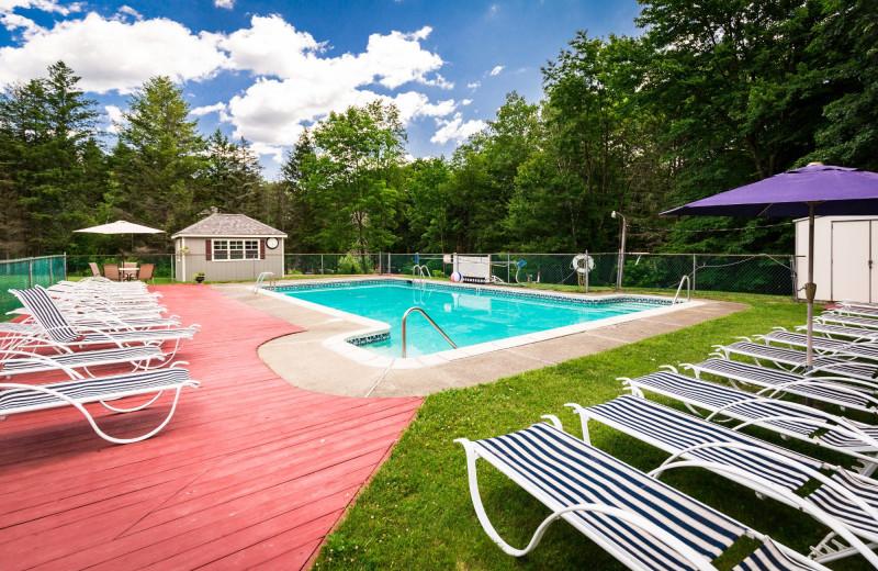 Outdoor pool at Deerfield Spa.