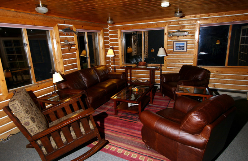 Lounge at Kenai Riverside Lodge.