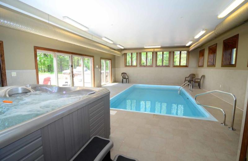 Rental indoor pool at Railey Mountain Lake Vacations.