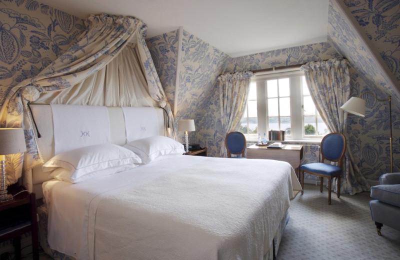 Guest room at Hambleton Hall.