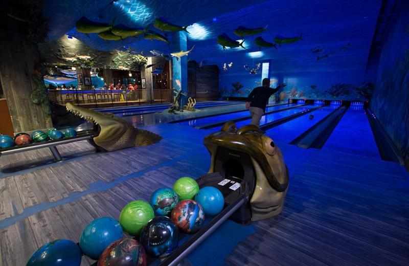 Bowling at Big Cypress Lodge.