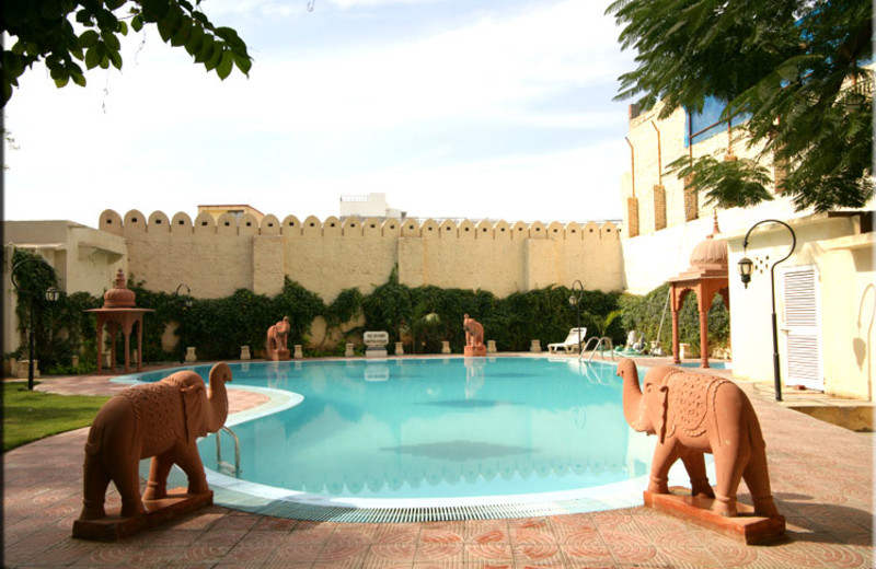 Outdoor pool at Bissau Palace.