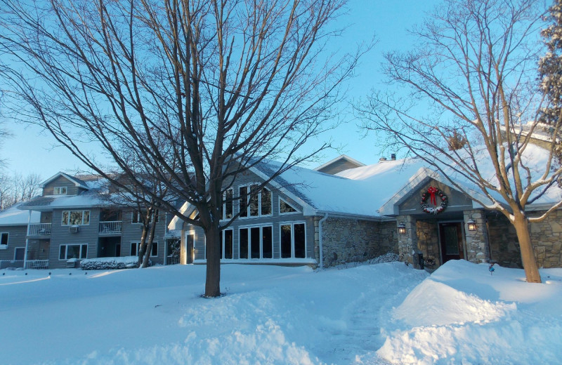 Winter at Waterbury Inn Condominium Resort.