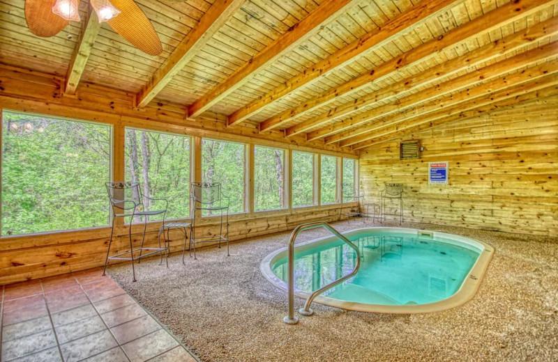 Rental pool at Aunt Bug's Cabin Rentals, LLC.