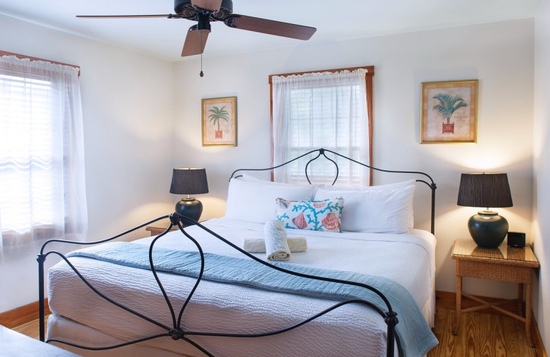 Guest bedroom at Island City House Hotel.