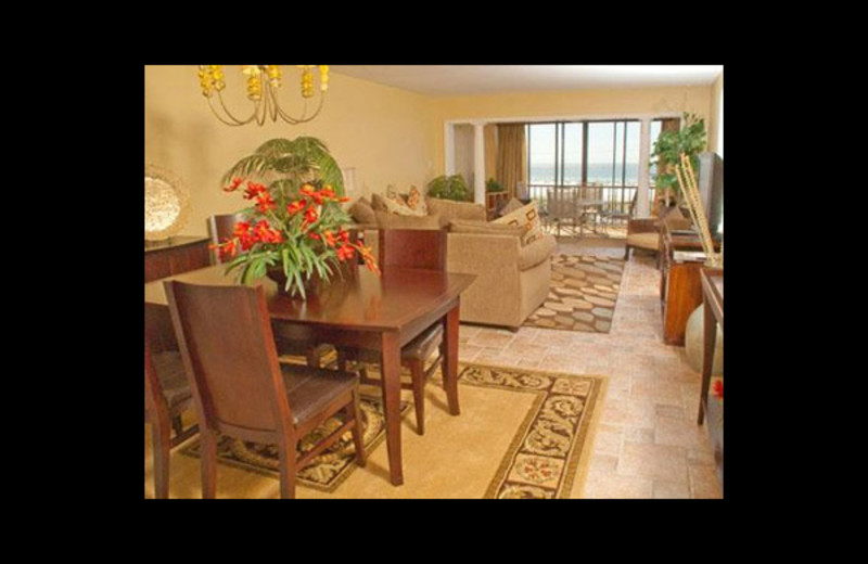 Dining area at Crescent Royale Condominiums.