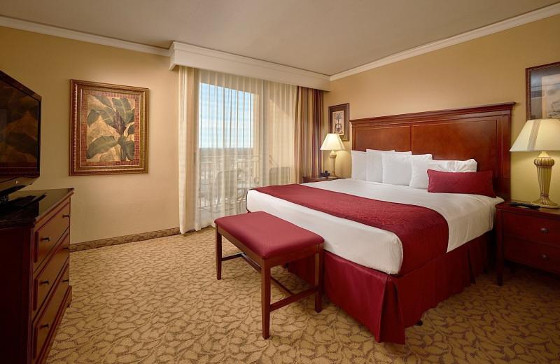 Guest room at Plaza Resort & Spa.