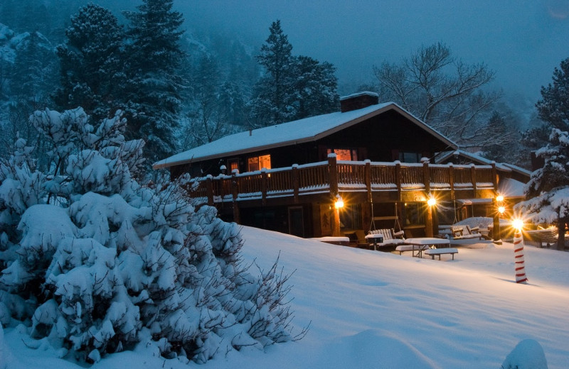 Winter at McGregor Mountain Lodge.
