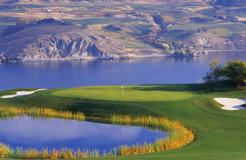 Golf course near Campbell's Resort on Lake Chelan.