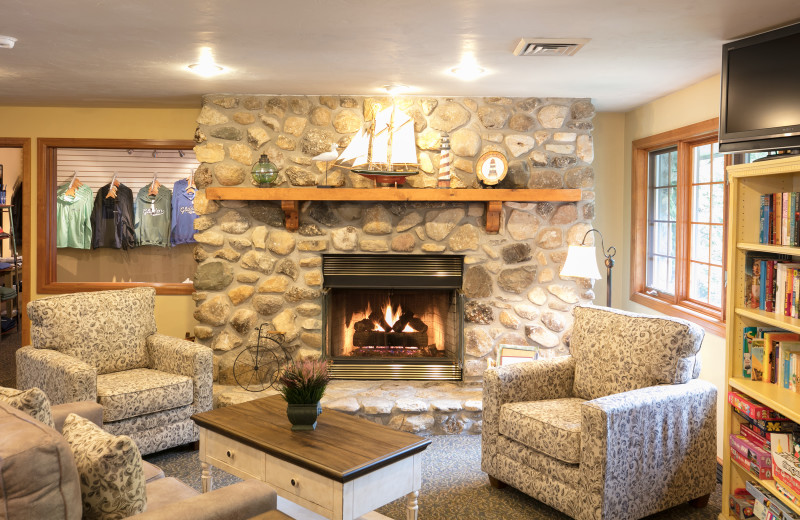 Lounge at Glidden Lodge Beach Resort.
