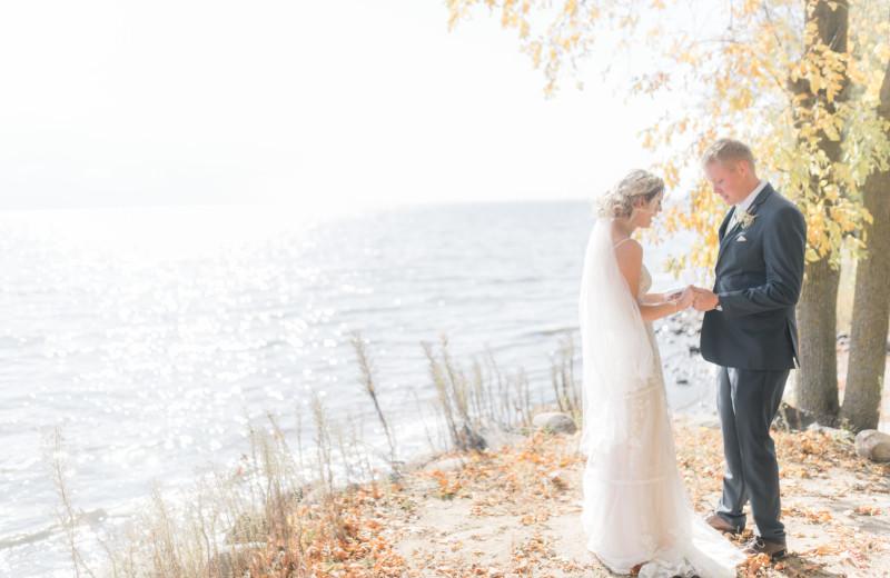 Weddings couple at The Red Door Resort.