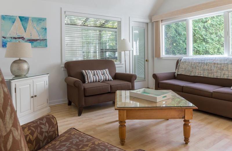 Cottage living room at New Seabury Resort.