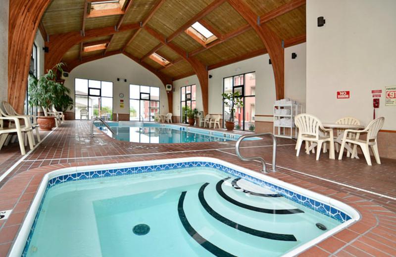 Pool Area at Comfort Inn West