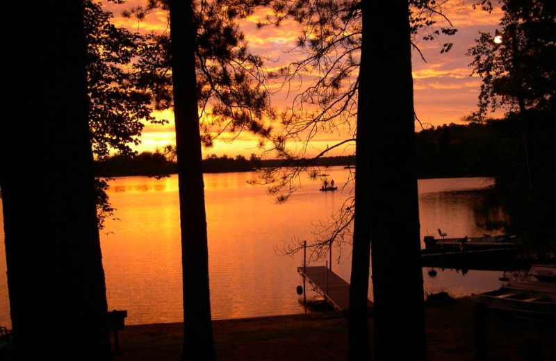 Sunset at Golden Fawn Lodge.