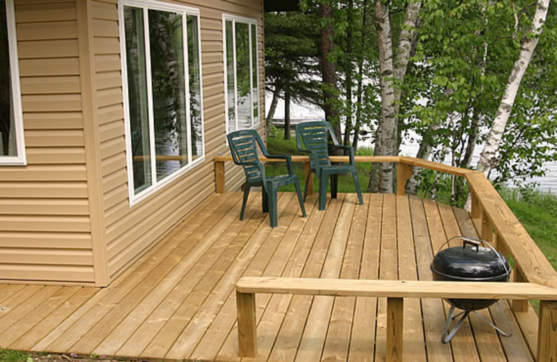 Cottage deck at Little Norway Resort.