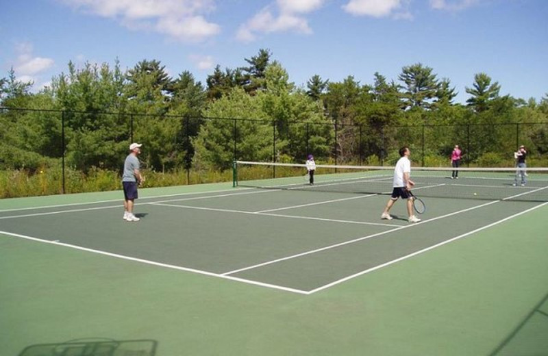 Tennis court at Pleasant Cove Resort.