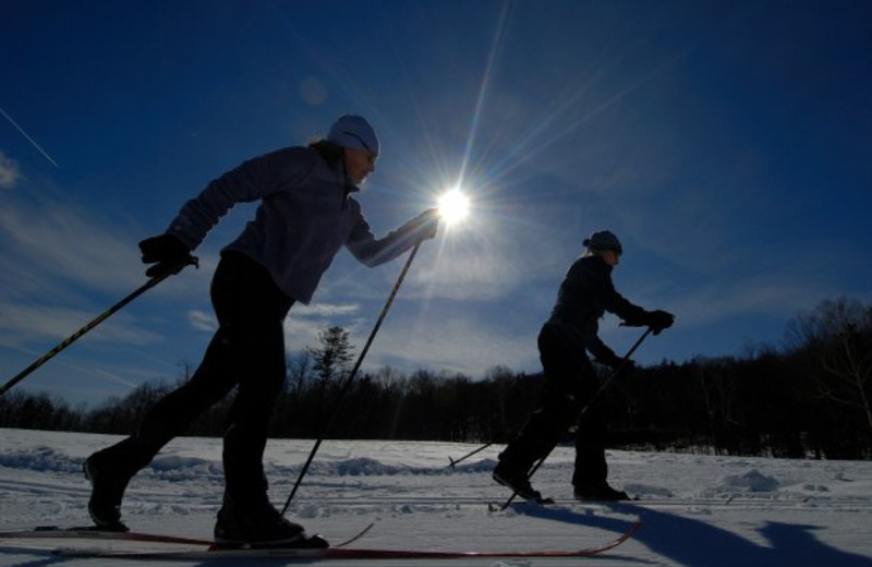 Cross country skiing at The Mountain Top Inn & Resort.