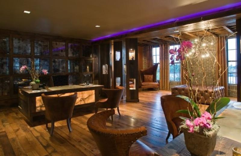 Lounge view at Bohemian Hotel Savannah Riverfront.
