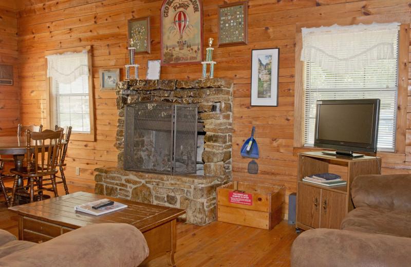 Cabin interior at Buffalo Outdoor Center.