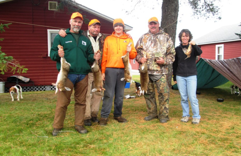 Successful snowshoe hare & woodcock hunters in Essex County, Canaan, Vermont's Northeast Kingdom.