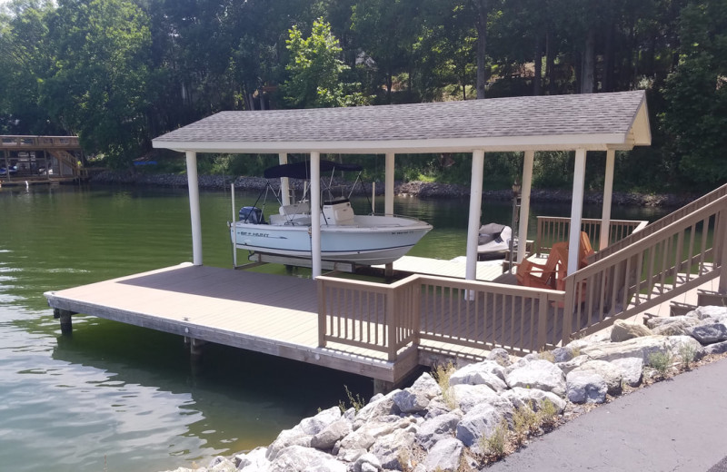 Rental dock at Mariners Landing.