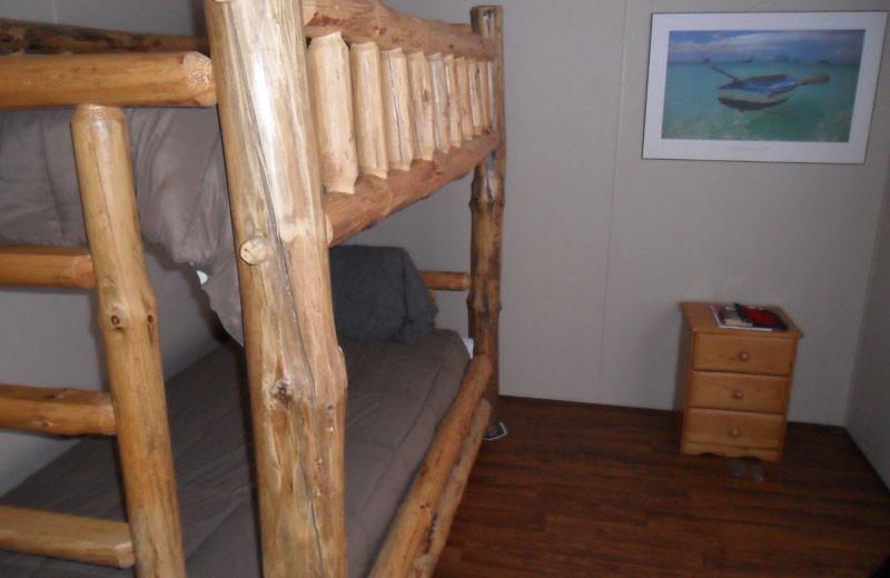 Bunk beds at King Creek Resort & Marina.
