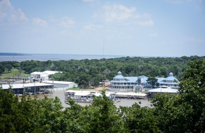Lake Texoma and Highport Marina at Tanglewood Resort and Conference Center.