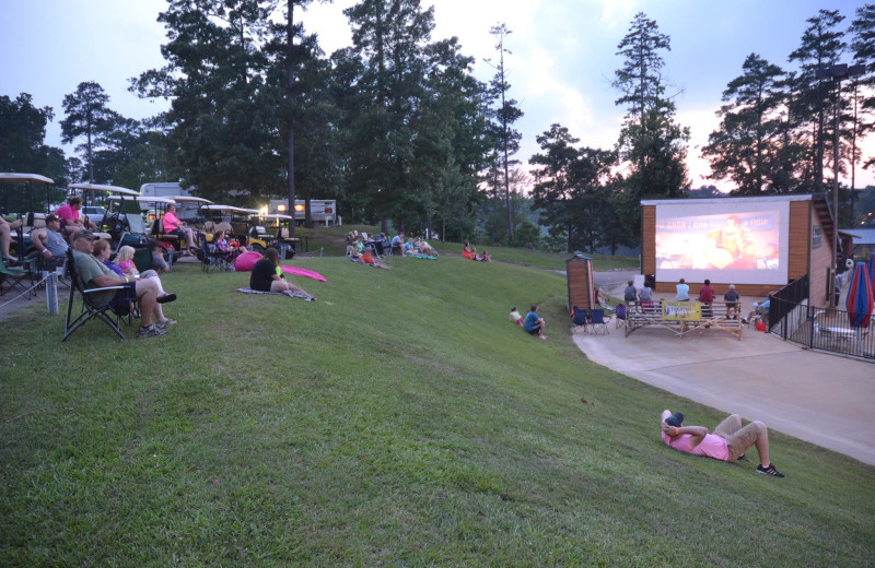 Movies under the stars at Yogi on the Lake.