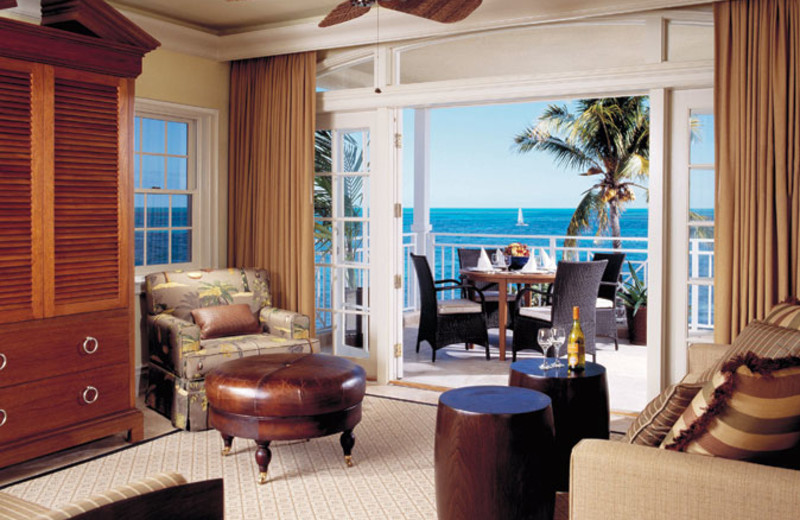 Guest living room at Old Bahama Bay.