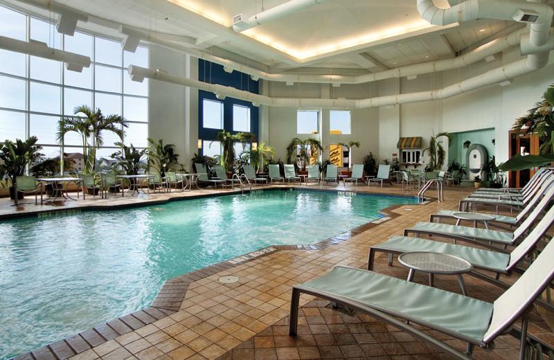 Indoor pool at Hilton Suites Ocean City Oceanfront.