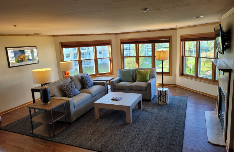 Guest living room at The Osthoff Resort.