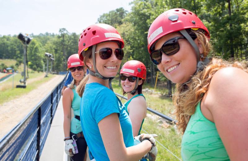 Zip line at Massanutten Resort.