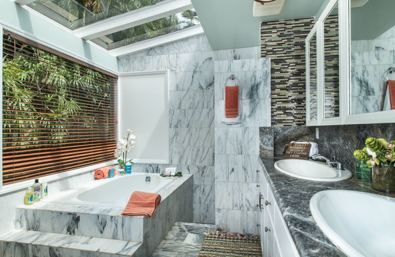 Rental bathroom at Hawaiian Vacation Rentals.