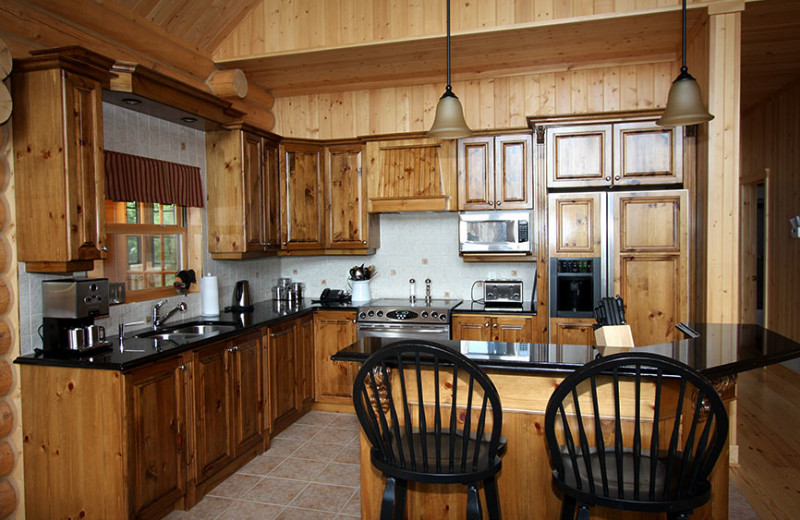 Chalet kitchen at Fiddler Lake Resort.