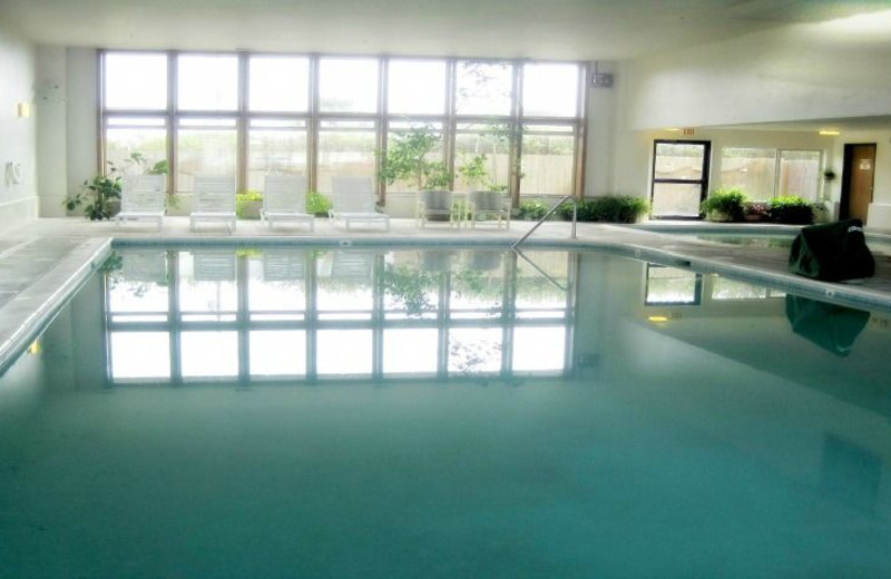Indoor pool at Adobe Resort.
