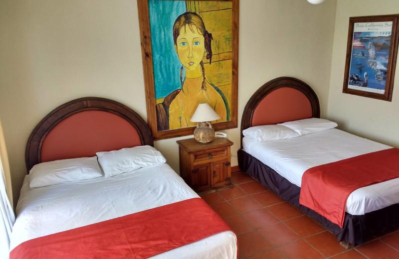 Guest room at Club Hotel Cantamar.