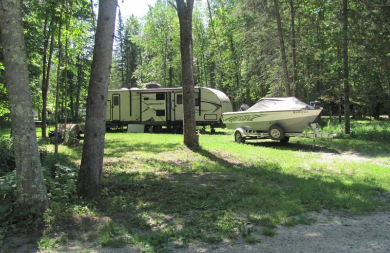 RV camping at Rising Eagle Resort.