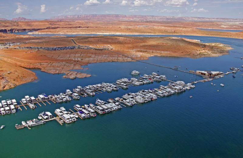Aerial view of Antelope Point.