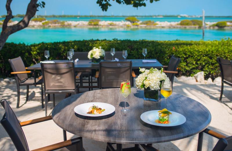 Dining at Hawks Cay Resort.