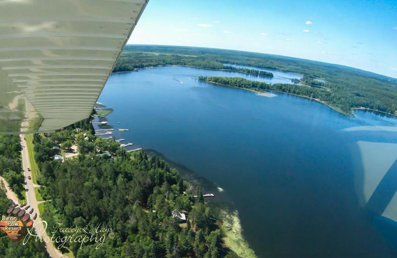Aerial view of Bear Paw Resort.