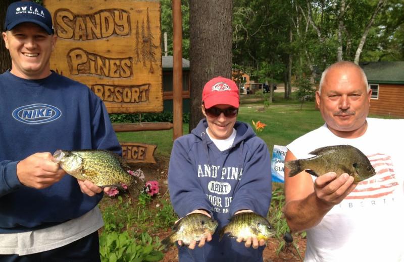 Fishing at Sandy Pines Resort.
