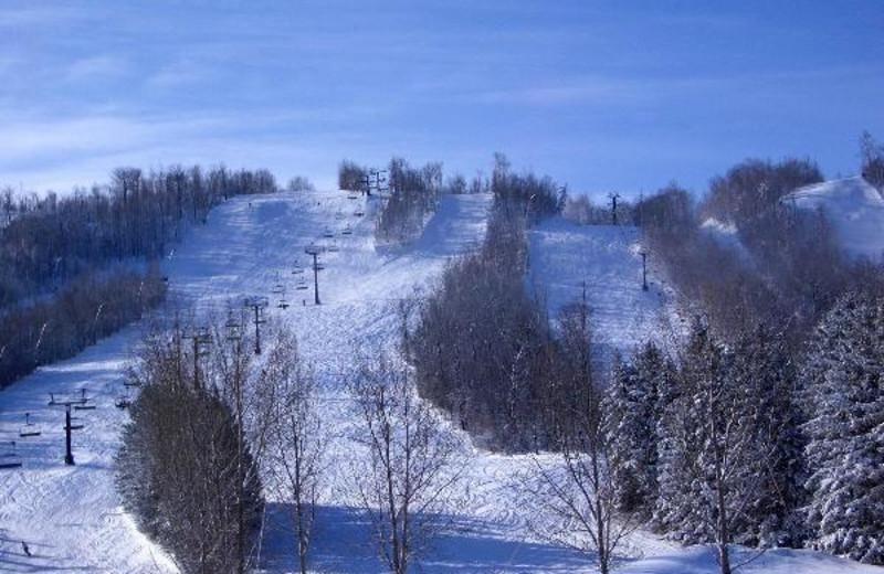 Skiing at Tyrolean Village Resorts at Blue Mountain.