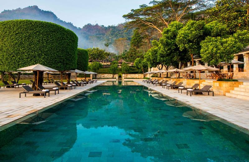 Outdoor pool at Amanjiwo.