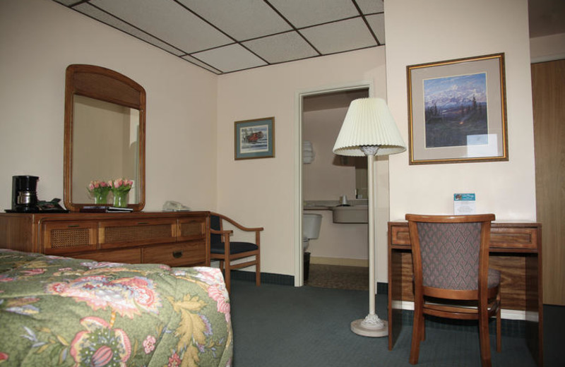 Guest room at Bridgewater Hotel.