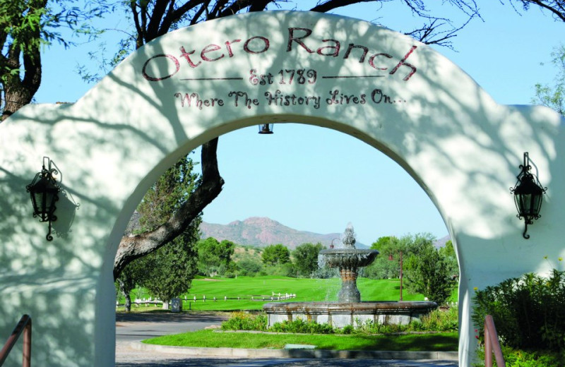 Entrance to Tubac Golf Resort.