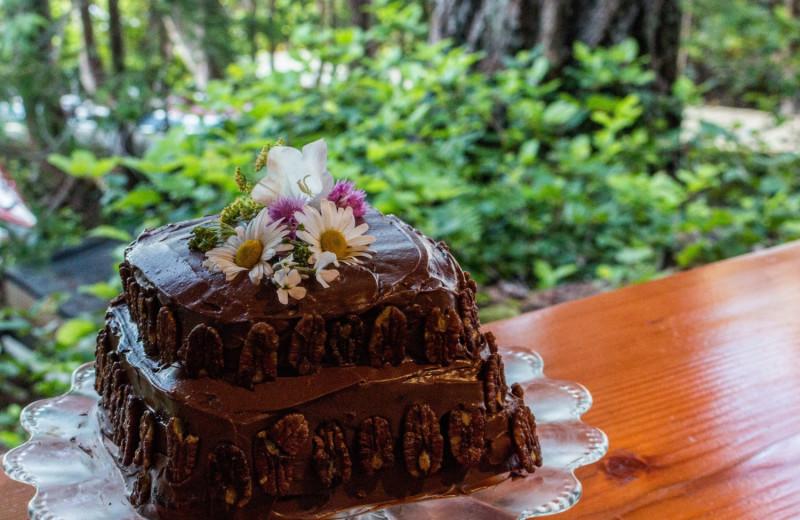 Cake at Cabana Desolation Eco Resort.