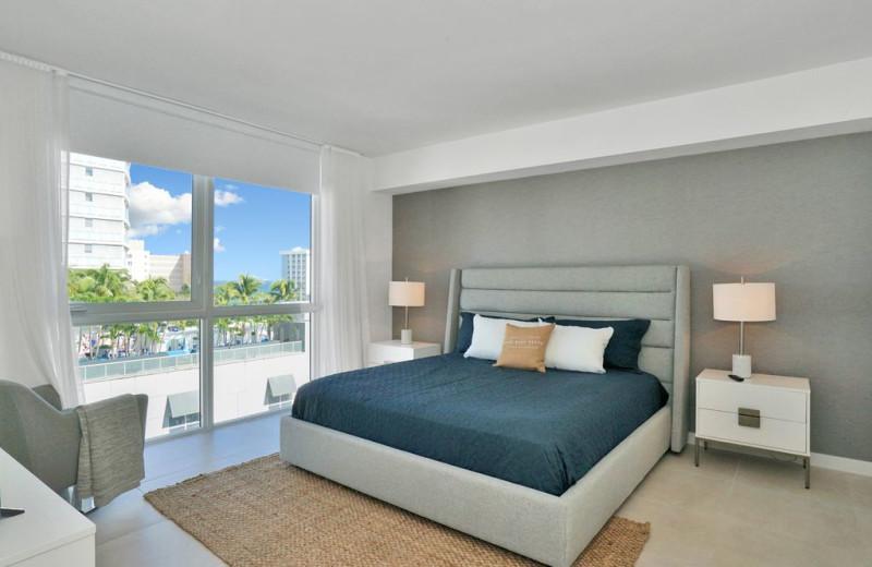 Rental bedroom at Walker Vacation Rentals.